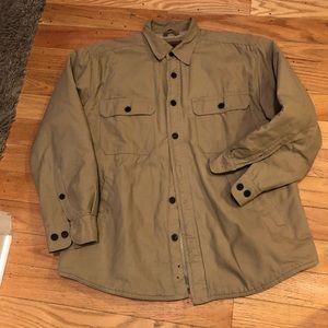 Other - Khaki Sherpa lined shirt jac jacket
